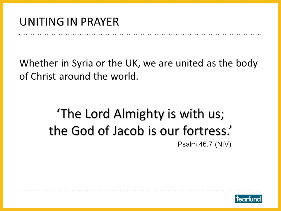 Encouragingly, Christians in Syria and around the world are uniting to pray for the country.