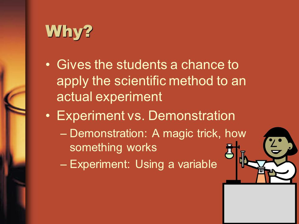 Scientific Method Question/Purpose: –What is the problem.