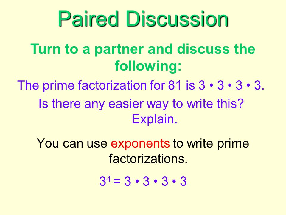 Using exponents, can you...