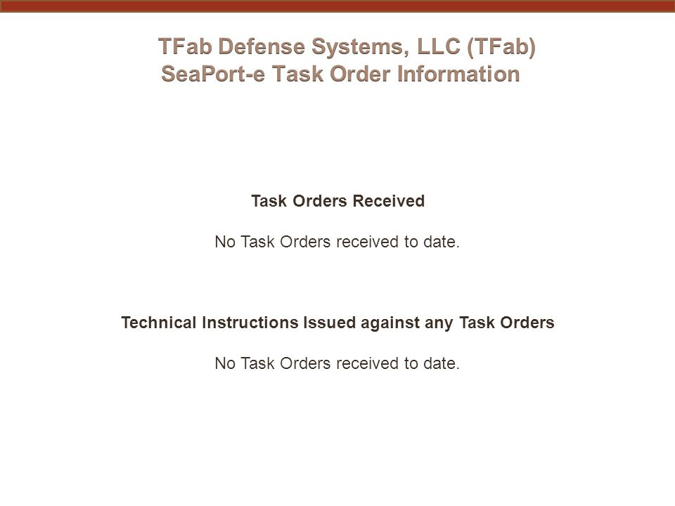 Overall Approach The overarching purpose of TFab's Quality Assurance (QA) approach is to provide for consistent, successful delivery of quality products and services which meet or exceed the quality requirements established in the Statement of Work (SOW) or Performance Work Statement (PWS) of any awarded Task Order (TO).