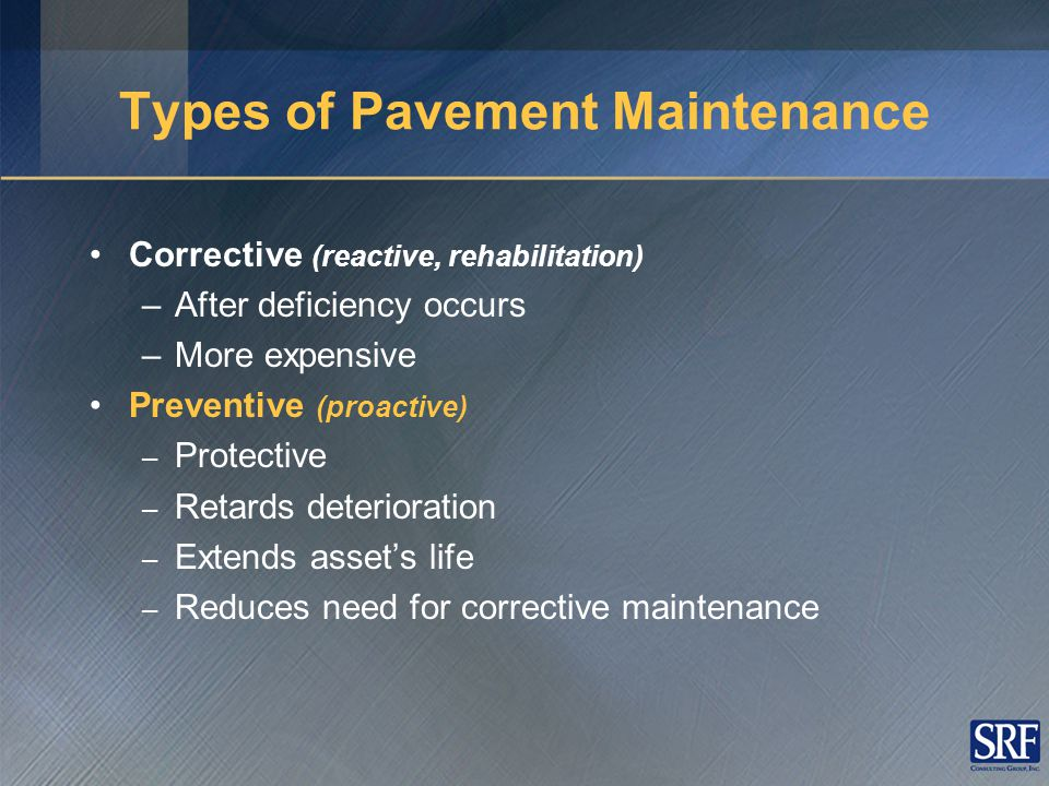 Why Pavement Preservation.Intuitive Argument Why do you change the oil in your car.