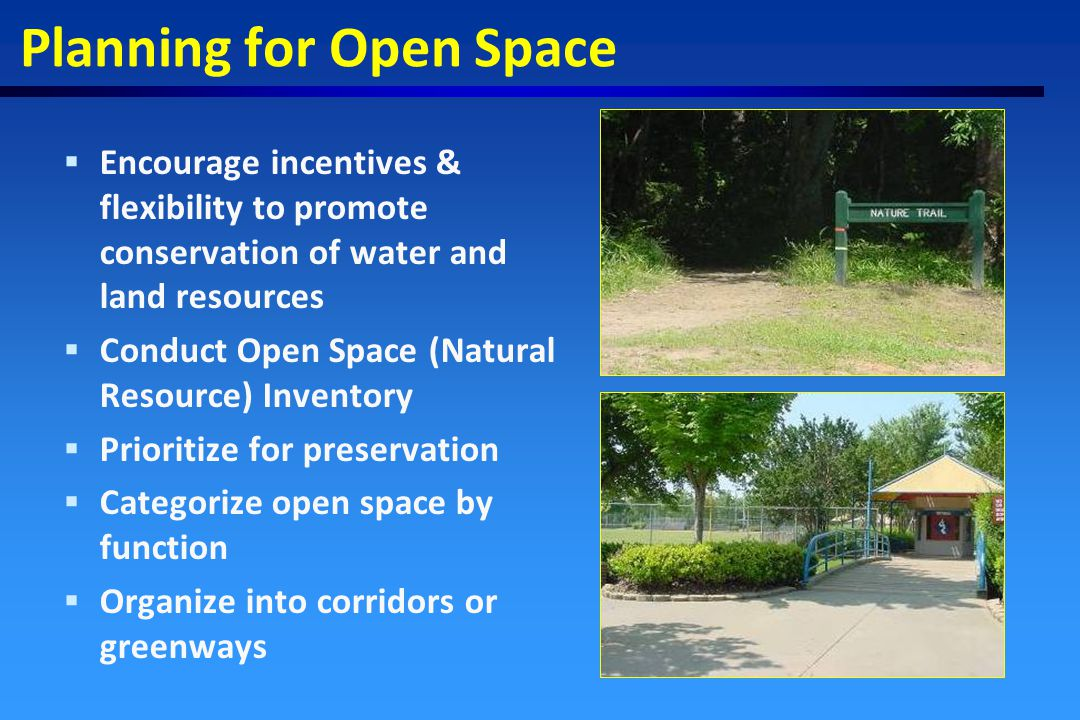 1st: Natural Resource Based Planning 2nd: Site Design 3rd: BMPs & Remediation Strategy for coping with polluted runoff n Reduce impervious area n Contain stormwater on-site