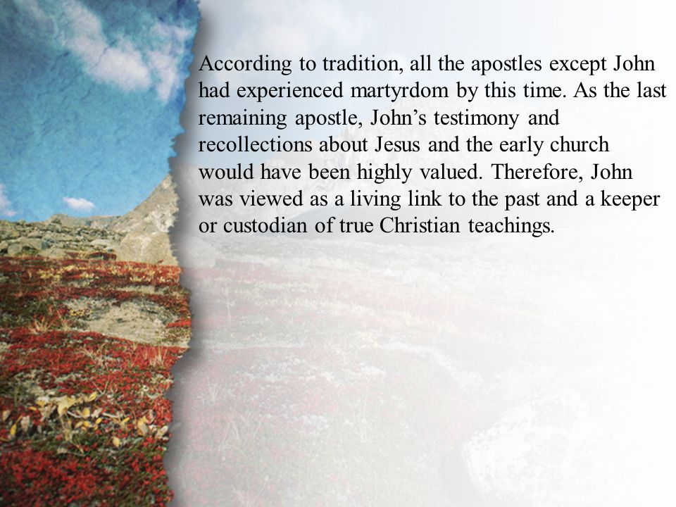 Introduction During the upheaval that accompanied the passing of most of the apostles and the subsequent landslide away from apostolic teaching (F.