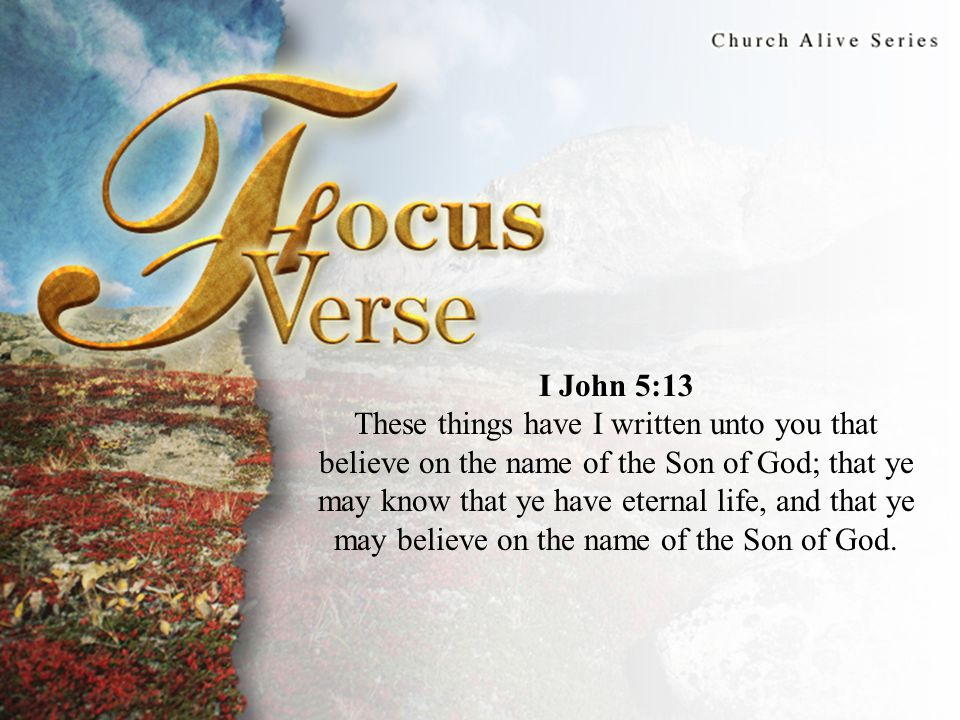 Focus Thought John's epistles constitute what may be the final addition to the inspired Scripture.