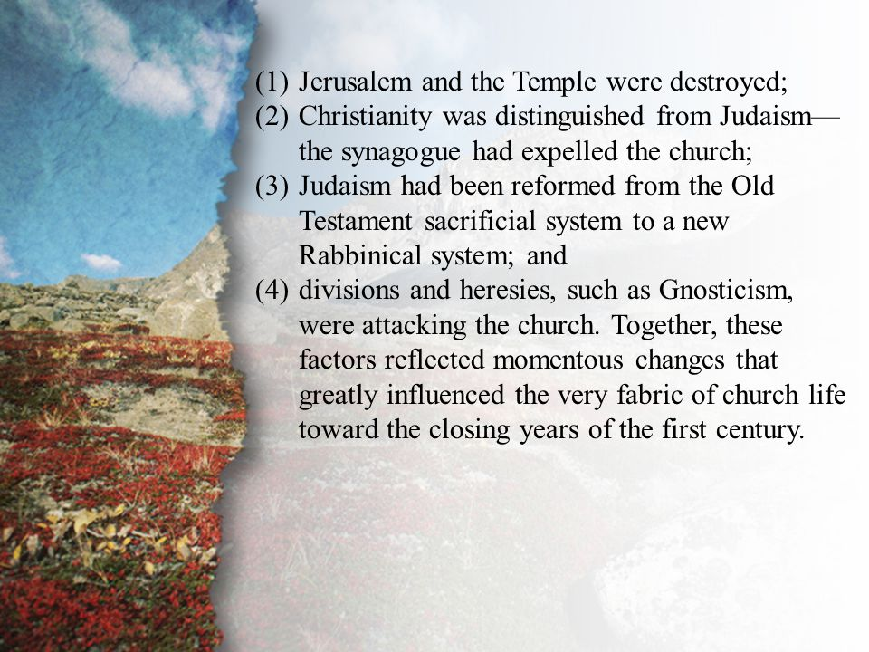 Introduction According to tradition, all the apostles except John had experienced martyrdom by this time.
