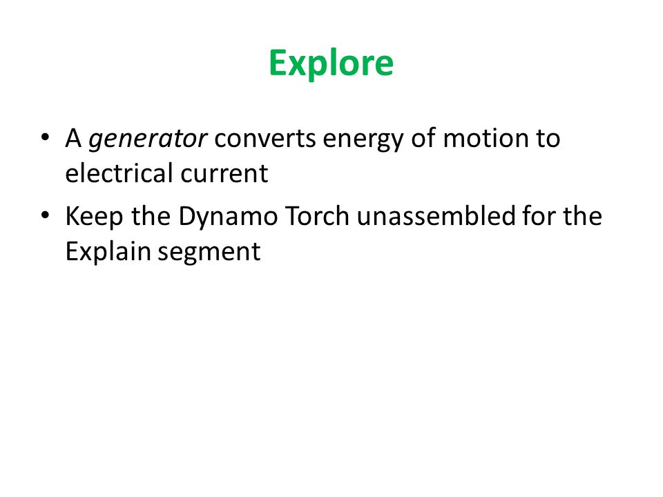 Explain Finding similarities between the Dynamo Torch and William's Windmill Dynamo TorchWilliam's Windmill CrankBlades GearsBicycle parts WiresCopper wire Toy motor (toy generator)Bicycle dynamo (small generator)
