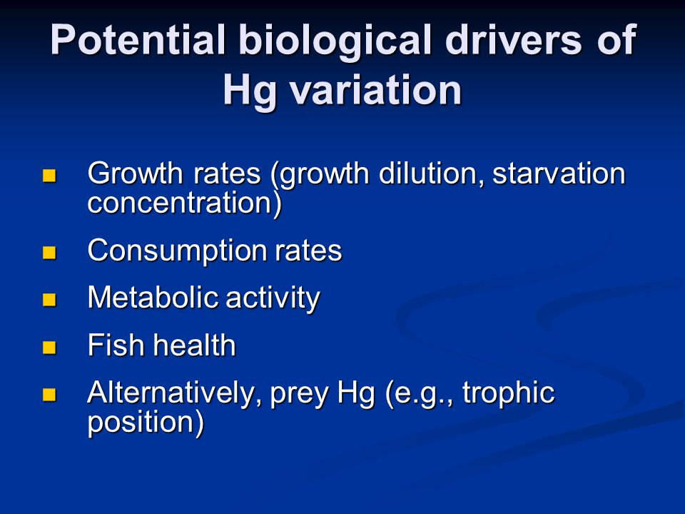 Bass Hg does not closely track silverside Hg Bass Hg does not closely track silverside Hg (Grenier et al.