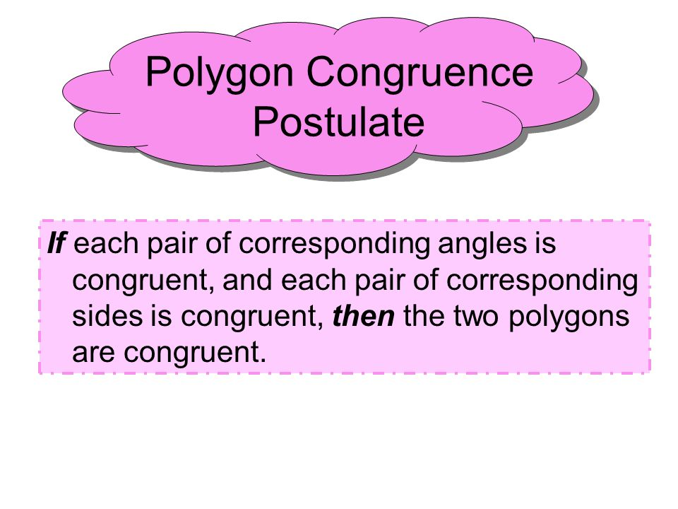 Congruence Statements Given: These polygons are congruent.