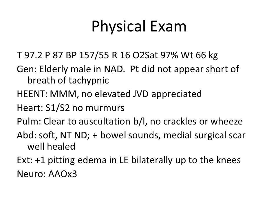 Admission Labs and Studies WBC 10.7/HGB 8.3/HCT 25.7/PLT 99 Na 140/K 4.7/CL 119/HCO 7/BUN 103/Cre 4.9/Gluc 112/Ca 8.0 Anion Gap: 14 Urinalysis: Yellow/clear/neg gluc/neg bili/neg ketones/ SG 1.011/trace blood/pH 7.0/prot 30/neg nit/+ leuk/4-8 WBC/1-3 RBC CXR: No evidence of focal consolidation, vascular congestion, or pleural effusions