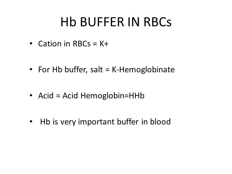BUFFERS IN ISF: HCO3 PO4 Weak protein buffer