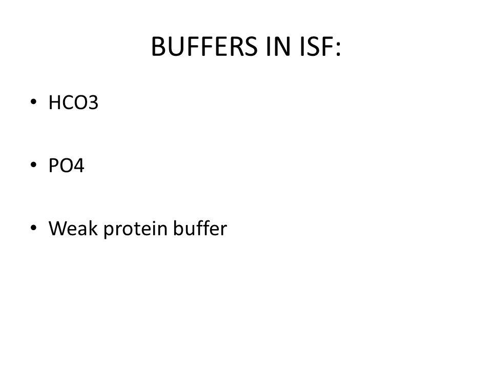 BUFFER IN ICF: Main buffer in ICF is protein buffer.