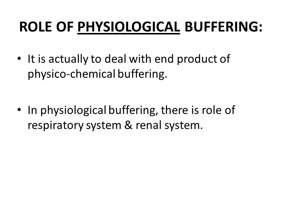 ROLE OF RESPIRATORY SYSTEM: It removes CO2 from the body.
