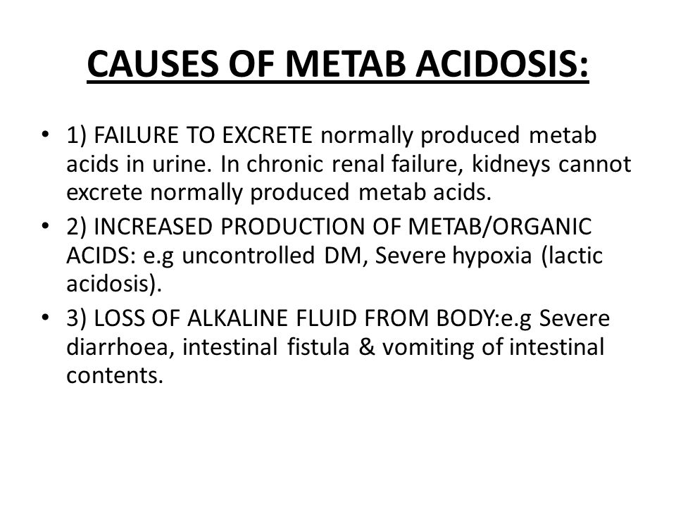 4) HYPERKALEMIA: In hyperkalemia, body tends to excrete K ion, instead of H ion.