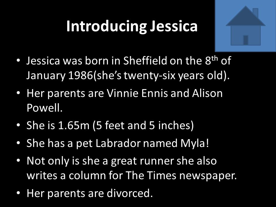 All about Jessica's running.Jessica is an Olympic runner.