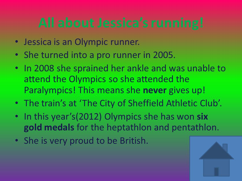 Jessica's score in the Olympics 2012 In the Olympic finals for pentathlon and heptathlon she came first.
