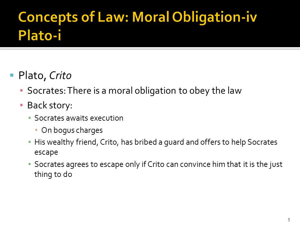  Crito's argument ▪ If Socrates does not escape ▪ Crito will lose a cherished friend ▪ Most people will think that Crito was too cheap to help Socrates ▪ Socrates' children will be deprived ▪ Socrates will have the reputation of being a coward 6