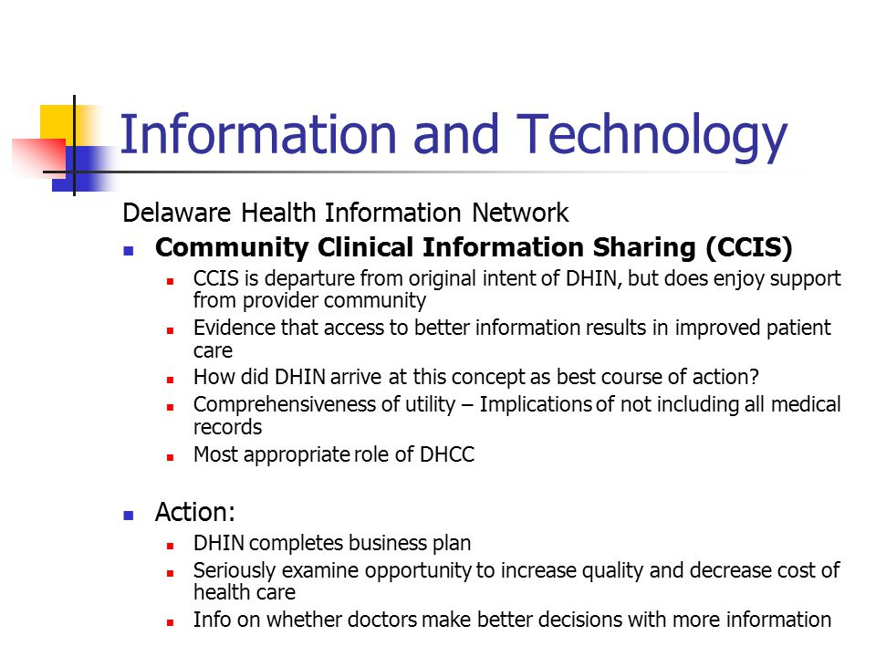 Information and Technology Delaware Health Information Network Website Issues and Questions: How much is it used.