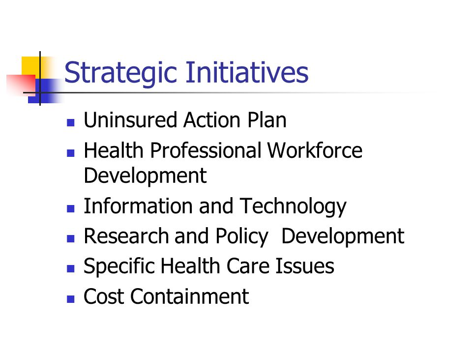Uninsured Action Plan Uninsured Persons Number/Percent Of Uninsured PeopleStrategies  Eligible for existing programs – Medicaid, CHIP, etc.