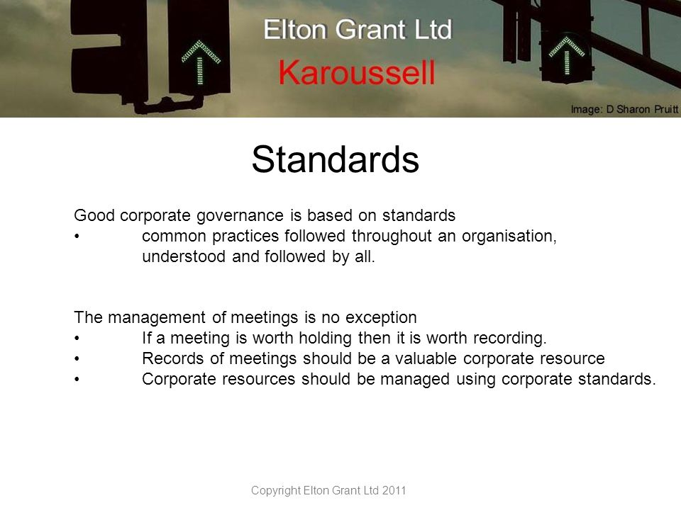 Karoussell Enforces best practice in managing meetings, establishes and maintains common standards across the organisation.