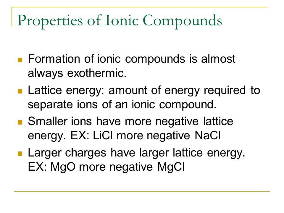 Formulas for Ionic Compounds Formula Unit: Simples ratio of ions in ionic compound Know your oxidation states for monatomic metals and nonmetals Also know your oxidation states for polyatomic metals and nonmetals GroupOxidation number 11+ 22+ 153- 162- 173-