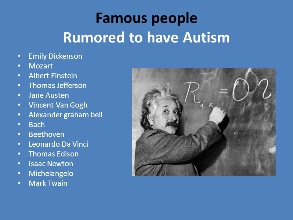 Who it affects 1 in 88 kids born today Usually boys Kids regardless of parental styling (doesn't mean autistic kids have bad parents) Neurological problem – make up of brain is different Possible link between autism and schizophrenia