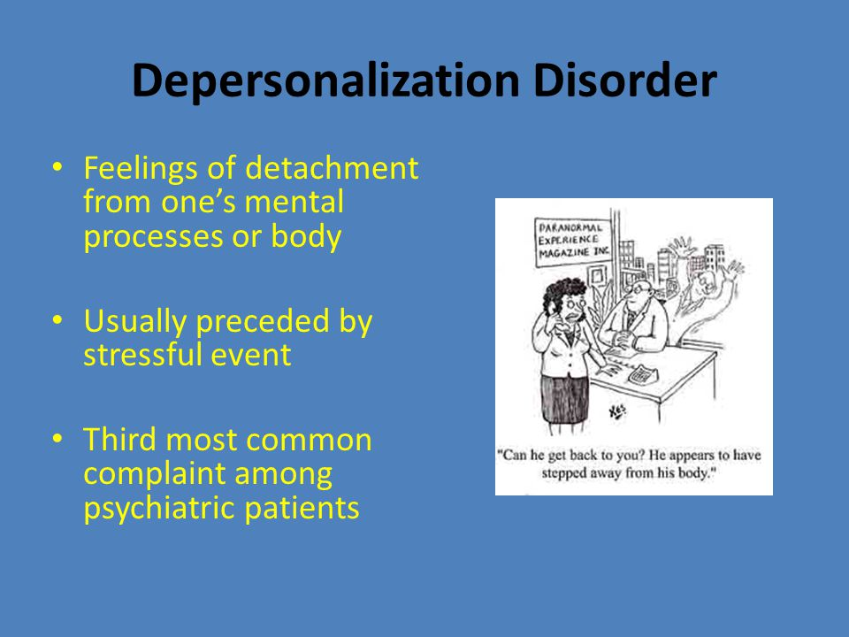 Explaining Dissociative Disorders Psychoanalytic theory – dissociate in order to repress unacceptable urges Learning theorists – learned not to think about disturbing events in order to avoid feelings of guilt, shame, or pain