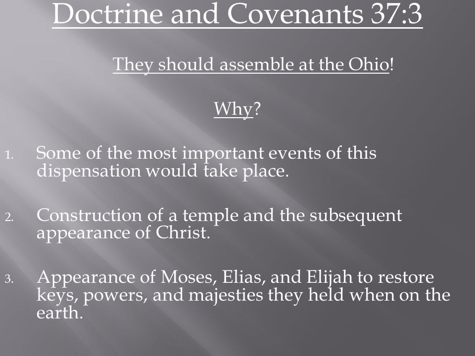 4.Saints would be endowed with power from on high (D&C 38:32).