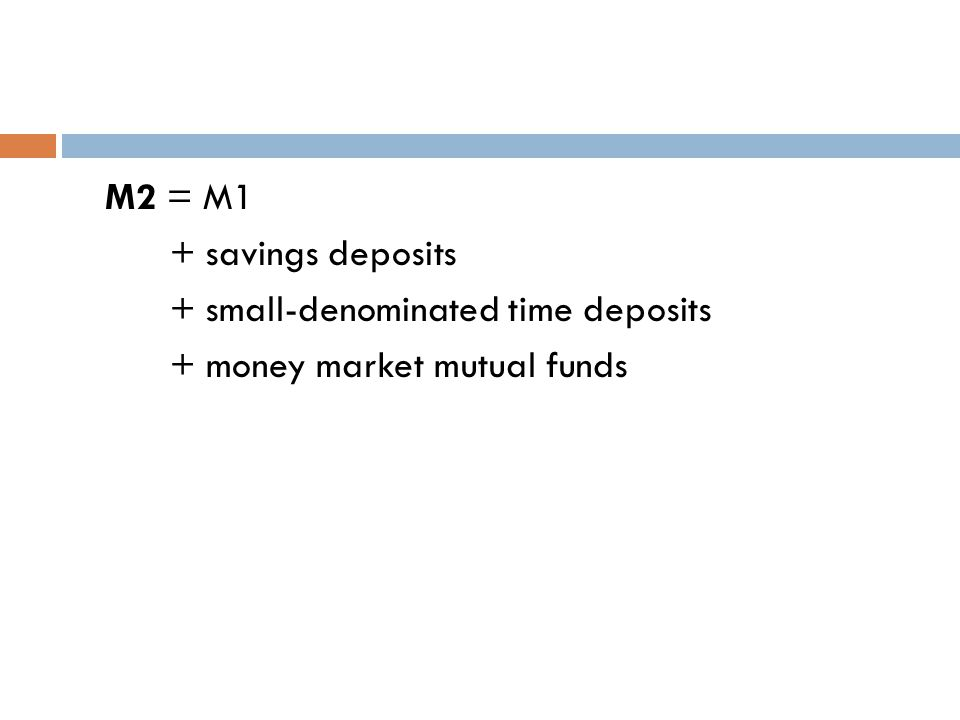 Savings deposits—savings accounts with no fixed time limit.