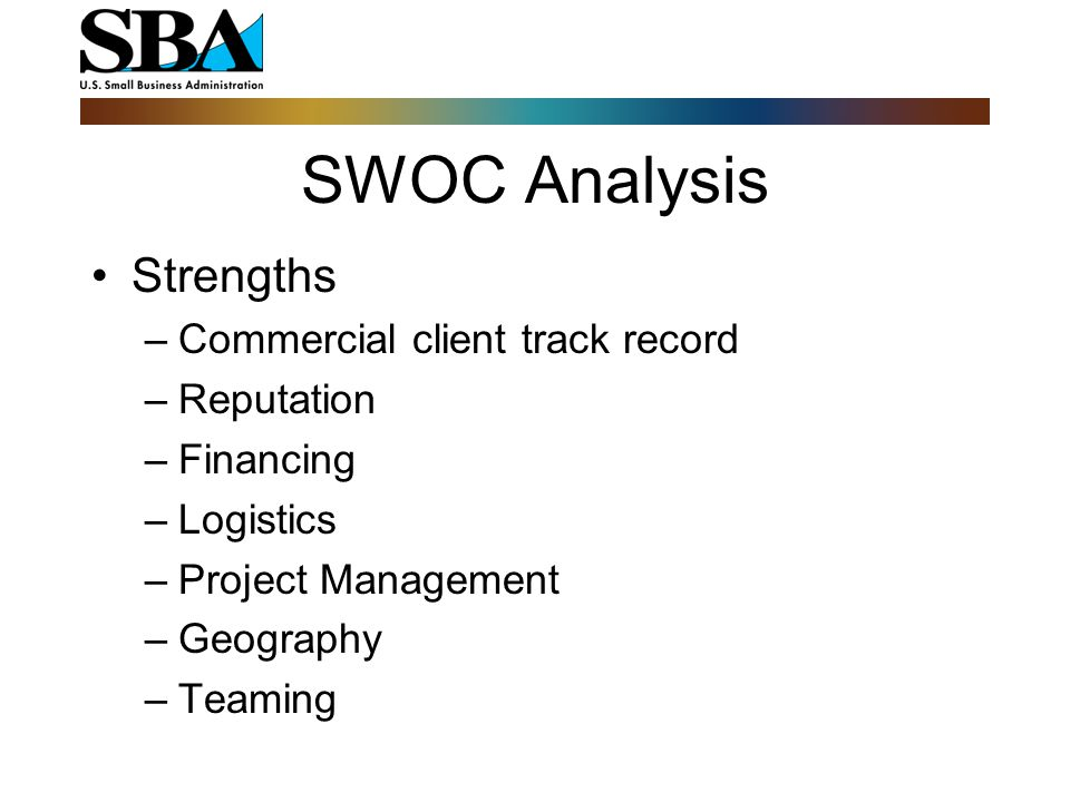 SWOC Analysis Opportunities –New Companies – Looking Local –Urgent - environmental/disaster –Negative media –Local & State Agenda