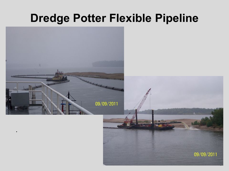 Cutterhead Dredge Contract 8 24 Cutterhead with 3000-ft of pipeline.