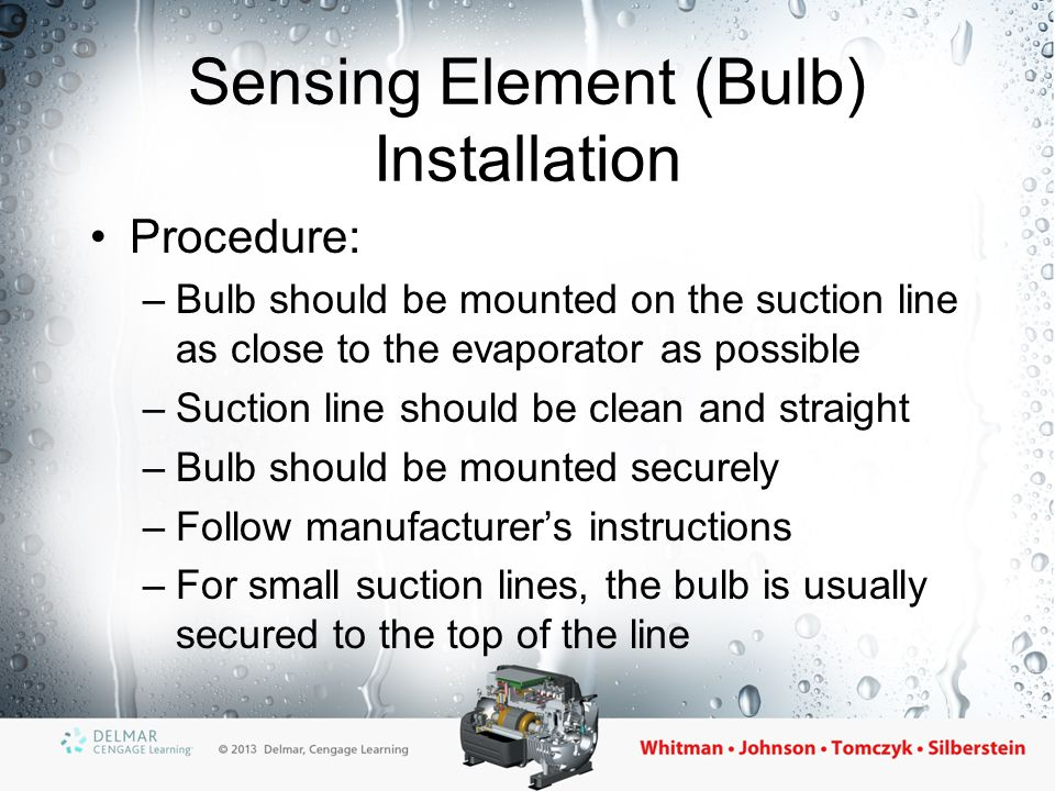 The Solid-State Controlled Expansion Valve Uses a thermistor as a sensing element Electrically controlled When coil is energized, the valve opens Responds very quickly to temperature changes Suitable for heat pump applications