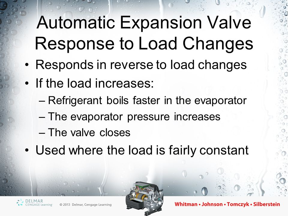 Special Considerations for the TXV and AXV Both are expansion devices that allow more or less refrigerant flow Both need a storage device (receiver) for refrigerant when it is not needed The receiver serves both as a storage tank and as a tank into which refrigerant can be pumped when servicing the system