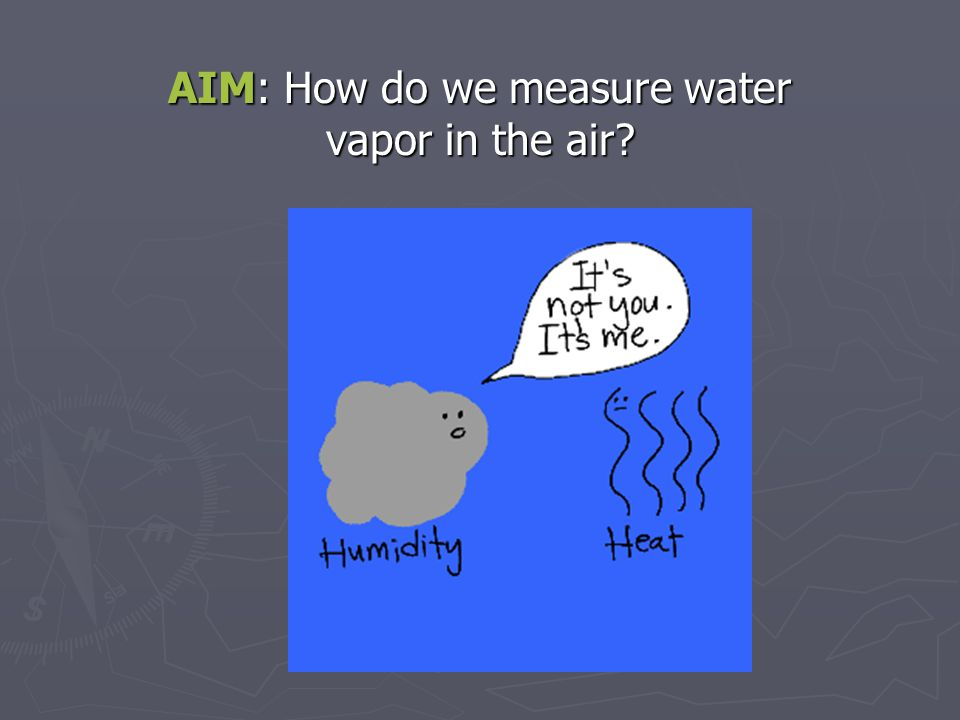 How much water is in the air.