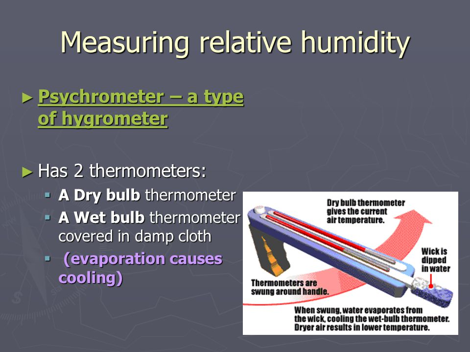 Example #1 ► What are the relative humidity and dew points.