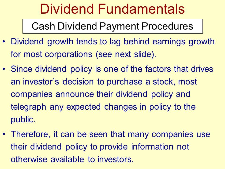 Dividend Fundamentals