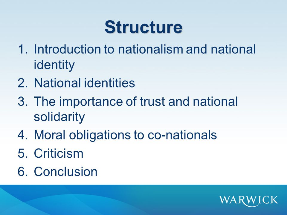 Introduction to Nationalism and National Identity