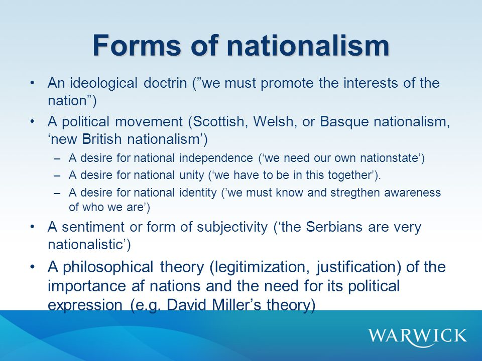 Why a Theory of National Identity.