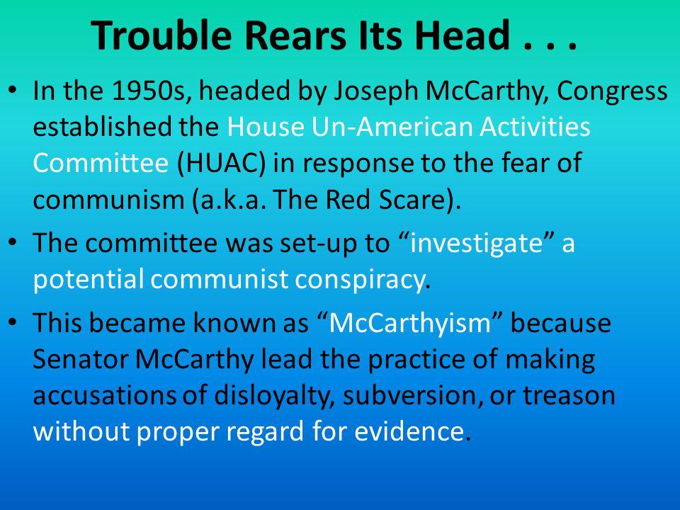 Trouble Rears Its Head...