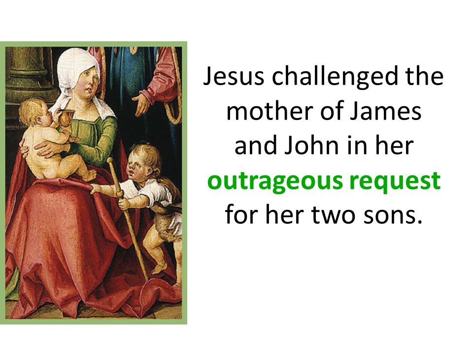 Matthew 27:55-56: And many women were there beholding afar off….among which was Mary Magdalene, and Mary the mother of James and Joses, and the mother of Zebedee's children.