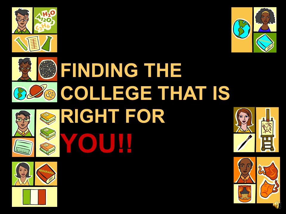 FINDING THE COLLEGE THAT IS RIGHT FOR YOU!!