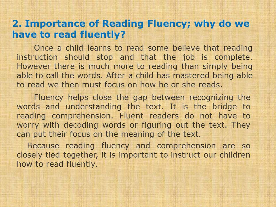 Identify the fluent and the regular readers from this video: