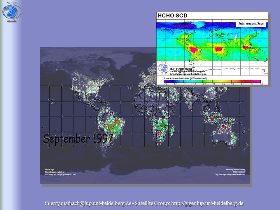 thierry.marbach@iup.uni-heidelberg.de - Satellite Group: http://giger.iup.uni-heidelberg.de ATSR Monthly mean Fire counts/pixel June 1997