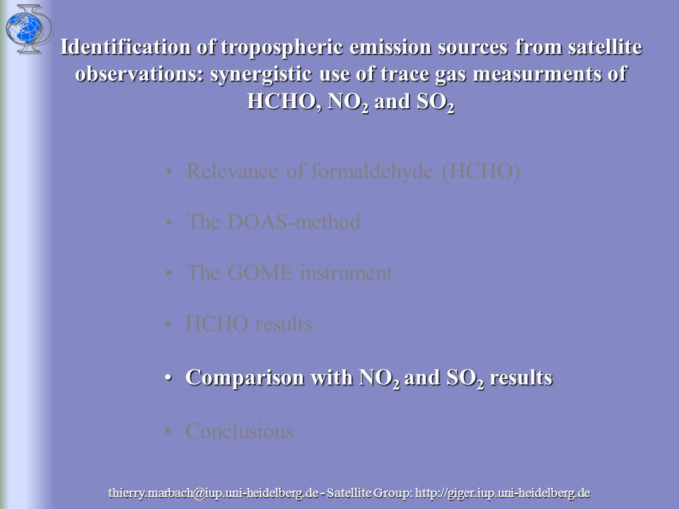 NO x in the Troposphere HCHO OH, HO 2 H2OH2OH2OH2O CH 4 O 2, hv ( <340 nm) 2H 2 O COOH HO 2 H2H2H2H2 2HO 2 2O 2, hv ( <350 nm) hv CH 4 NO 2 NO NMHCs O3O3O3O3hv ( <400 nm) CO 2