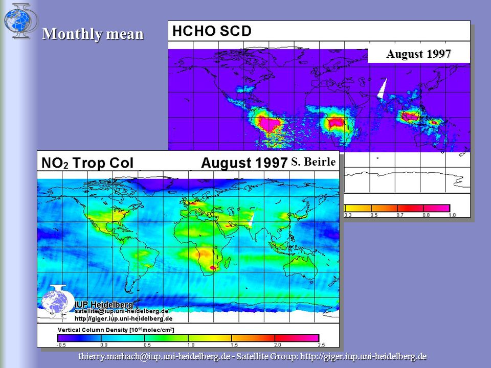 thierry.marbach@iup.uni-heidelberg.de - Satellite Group: http://giger.iup.uni-heidelberg.de Monthly mean September 1997