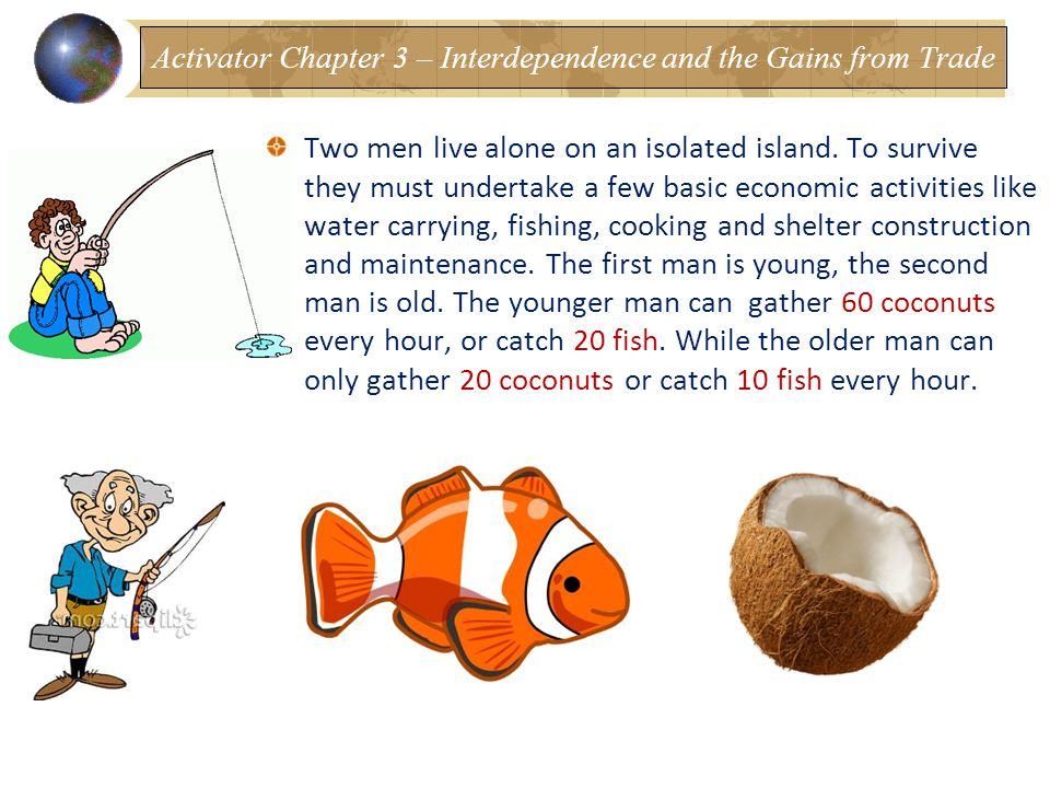 Two men live alone on an isolated island.