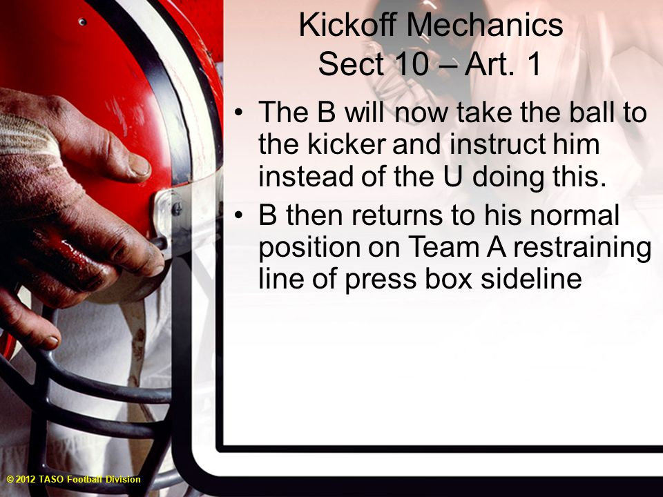 Kickoff Mechanics Sect 10 – Art.