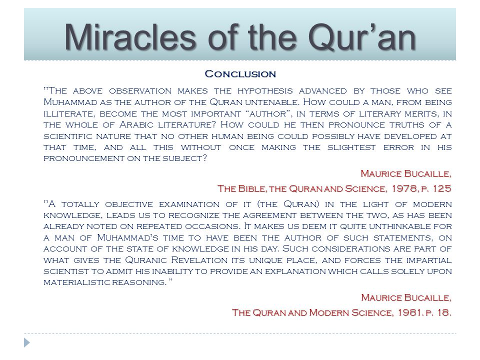 Miracles of the Qur'an Further reading