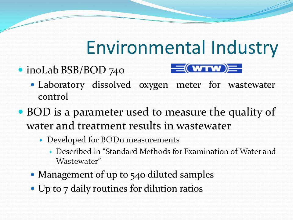 Food Industry Quality is extremely important thus sound and accurate biosensors are necessary Enzyme-based biosensors are common in this industry Measure amino acids, carbohydrates, gases, alcohols, and much more Other commercially available biosensors include antibody-based and nucleic acid based biosensors Mainly in trial and research laboratories Expected to yield substantial returns in the future