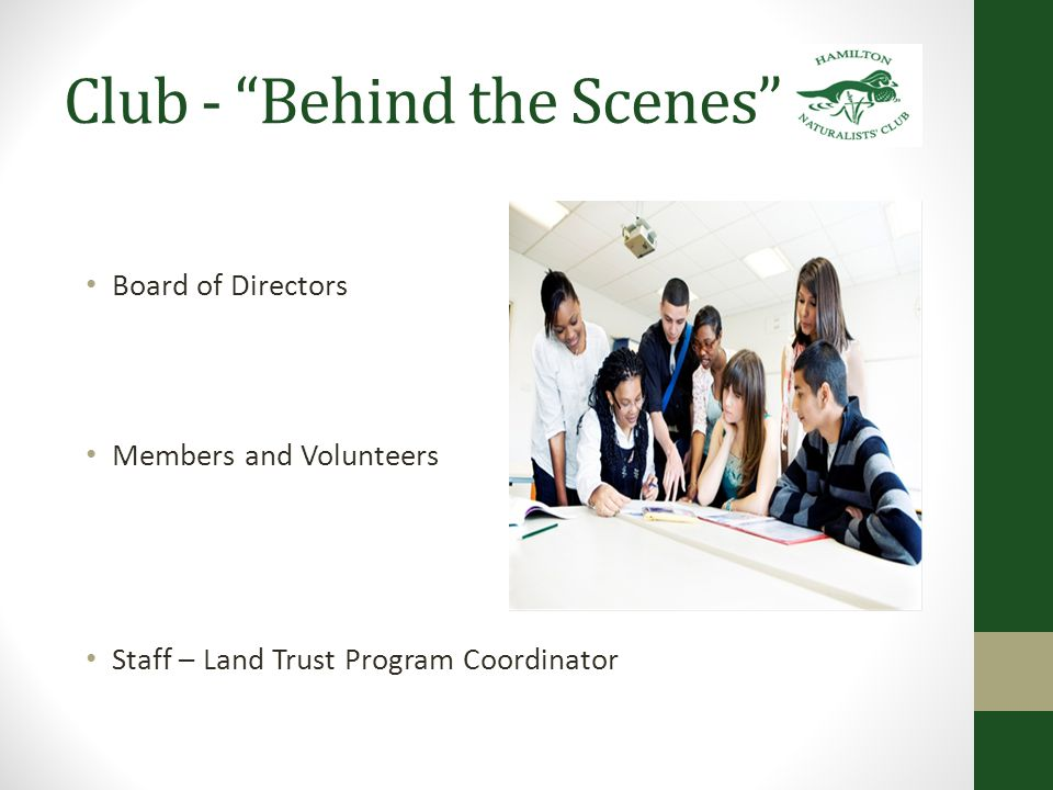 Volunteer Roles Board of Directors Membership Program (monthly meetings) Sanctuary/Head-of-the-Lake Land Trust Bird Study (monthly meetings) Falcon Watch Conservation and Education Field Events Wood Duck Publications Fund Development and Fundraising Volunteers There are over 80 distinct volunteer roles within the HNC.