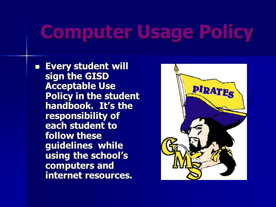 Policies Policies & consequences outlined in the student handbook will be strictly enforced.